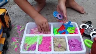 Trò Chơi Car Mixer Fire Truck & Sand Toys ❤ ChiChi ToysReview TV ❤ Đồ Chơi Trẻ Em Baby Doli
