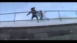 Painful Snowboard Fail!!! Epic!!