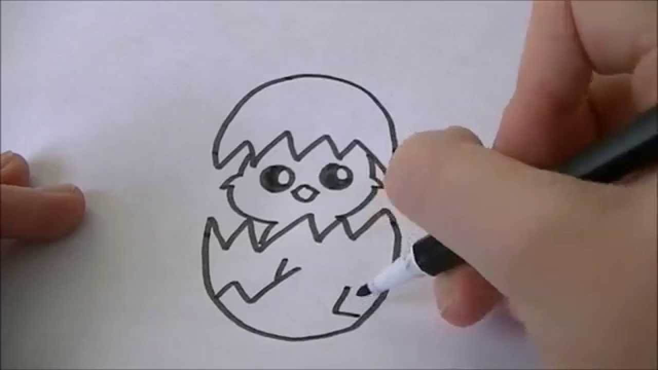 Cartoon Kuikentje Leren Tekenen 32 Easter Youtube