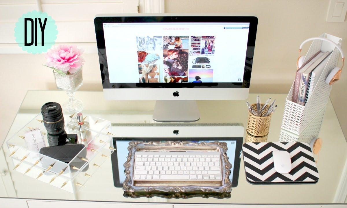 DIY Desk Decor! Cute + Affordable - YouTube