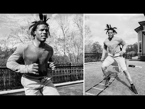 Cam Newton CRAZY INTENSE Workout At His Mansion!