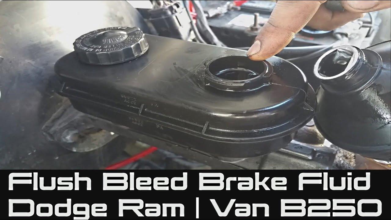 How To Flush Brake Fluid On Dodge Ram Bleeding Or Flushing Your 1980 Truck Gas Tank Dot 4 Van B250