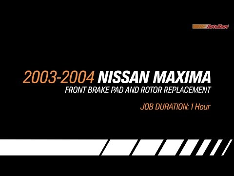 Nissan Maxima Front Brake Pads & Rotors Replacement - 2003-2004 - Make Model Series