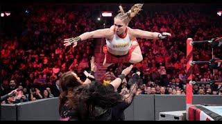 Nia jax and Tamina vs Ronda rousey and natalya : RAW 12/31/2018 (full match)