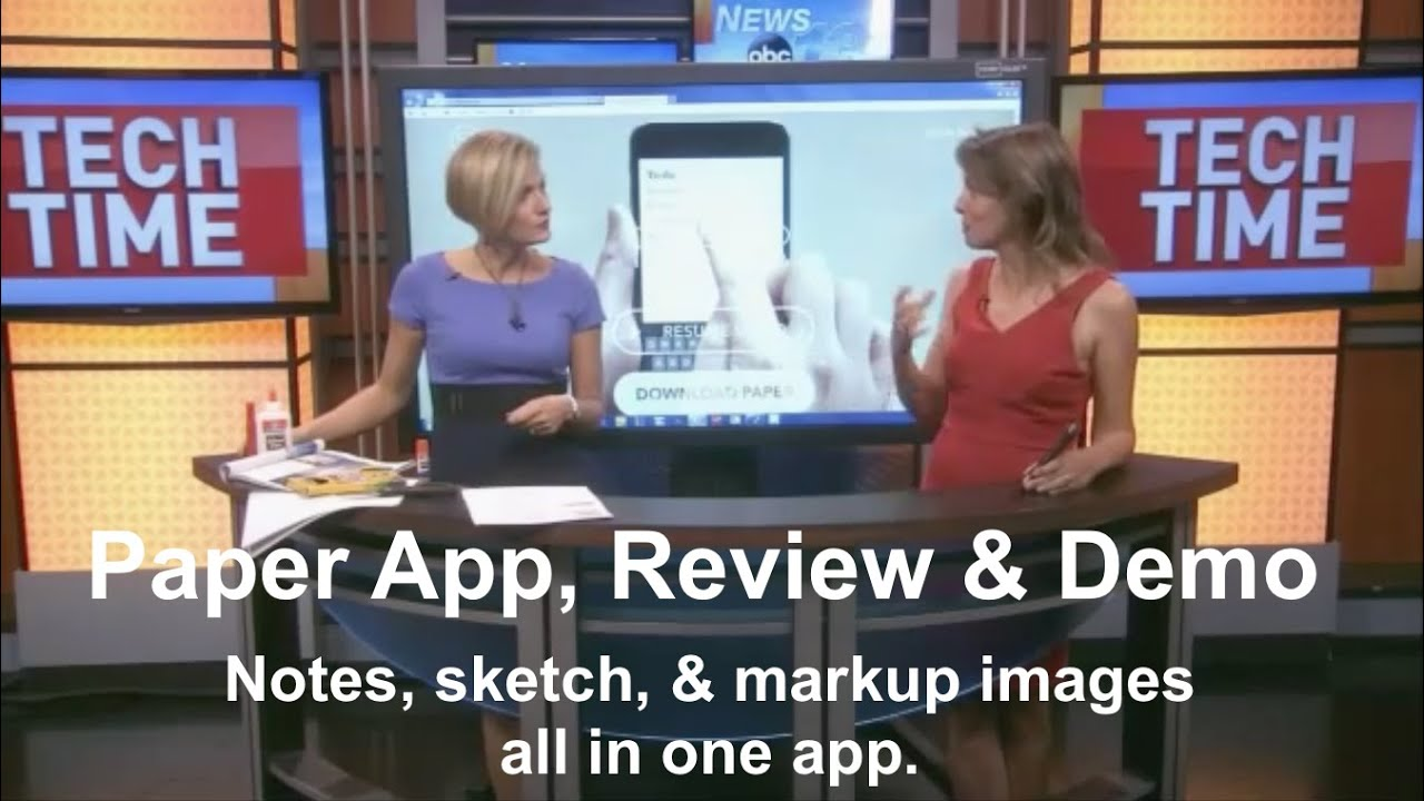Paper App Notes Drawings Pictures In A Single App Review And Demo Ipadwisdom Com