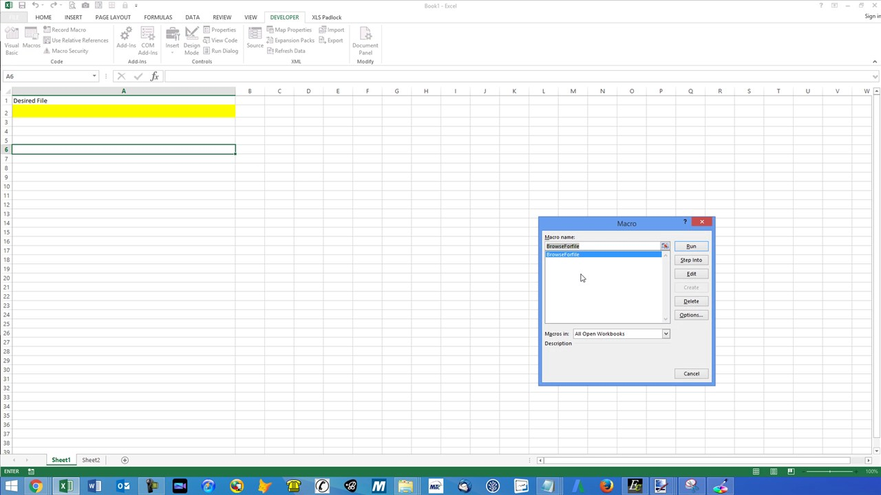 Browse For File and Open Workbook with Excel VBA - YouTube