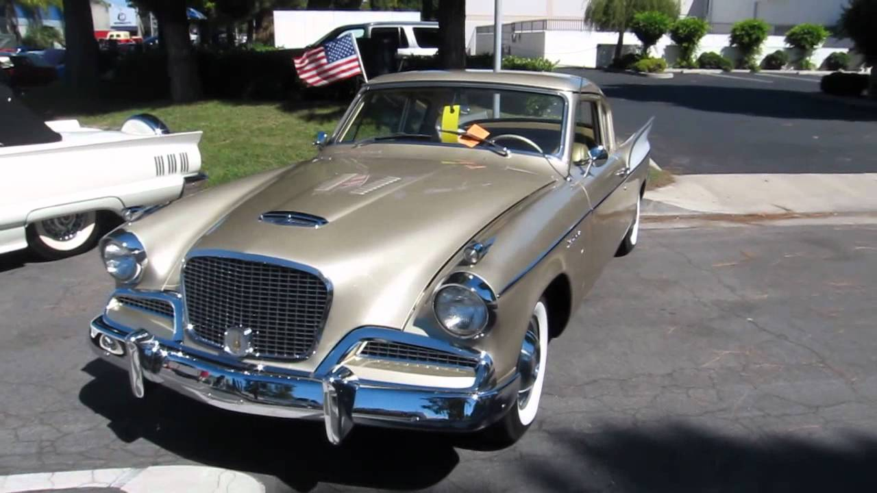Classic cars studebaker supercharged golden hawk 1957 absolute beauty youtube