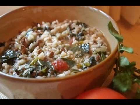 Vary Amin Anana Rice Stew With Greens And Ground Beef