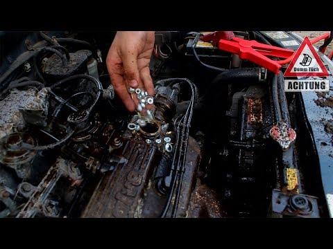 Motorwäsche extrem | Sand, Wasser und Schrauben in den Motor