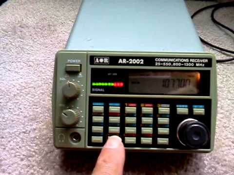 Police Scanners For Sale >> AOR AR-2002 Scanner for sale on Ebay - YouTube