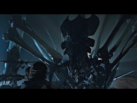 Aliens 1986: Xenomorph Queen Shootout Scene L Best Quality 4K