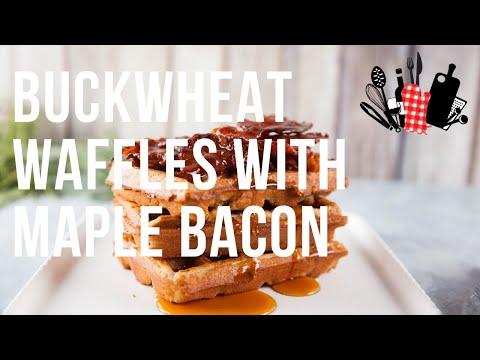 Buckwheat Waffles with Maple Bacon | Everyday Gourmet S10 Ep21