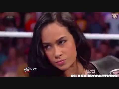 WWE Kharma come back and confront AJ Lee - YouTube