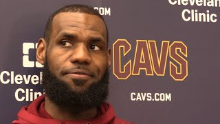 LeBron James on Cavs vs. Raptors and the playoffs