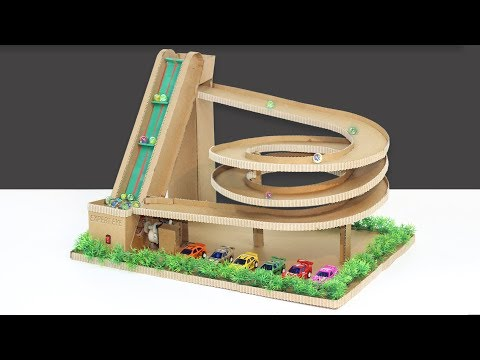 DIY Auto Marbel Run Game Machine Of cardboard ! Marble Race