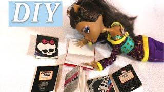 видео монстер хай как сделать тетрадь для кукол