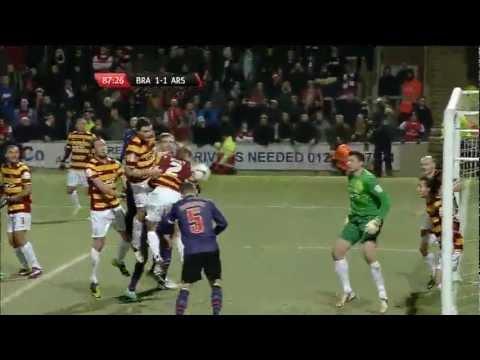 Bradford City vs Arsenal 11/12/12 Highlights HD