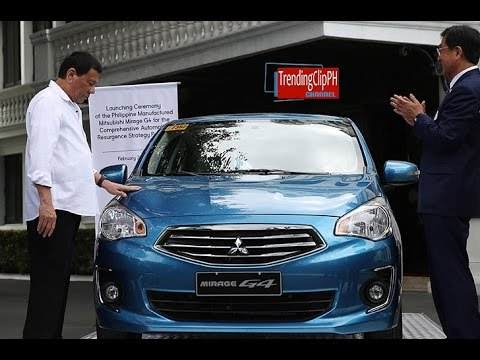Proudly Filipino made Mitsubishi Mirage G4: Pres. Duterte leads the launching