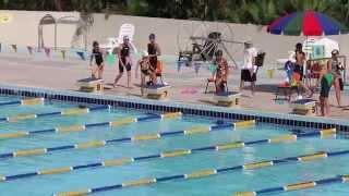 沙田分齡游泳比賽(女子I組蝶式50米) 14/9/2014