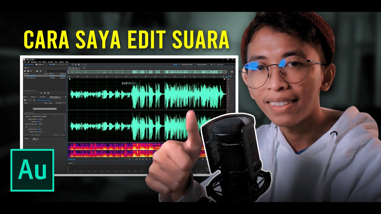 Cara Saya Edit Audio untuk Video Youtube | ADOBE AUDITION TUTORIAL #1