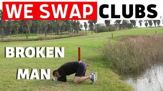we swap golf clubs with  CATASTROPHIC EFFECT  - DON'T DO IT