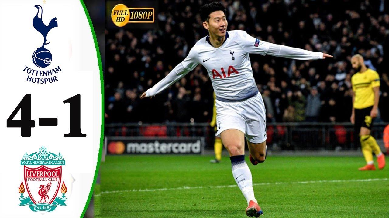 Tottenham vs Liverpool 4 1 Highlights & Goals 2019 HD ...