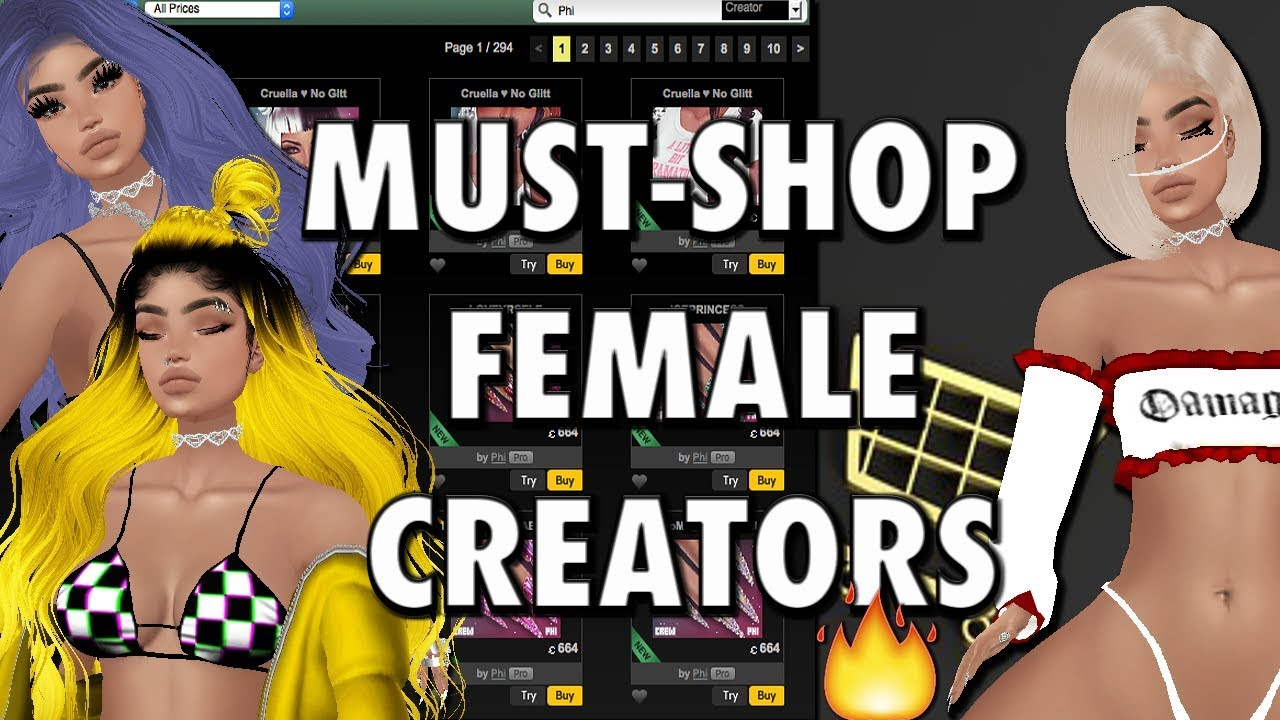 Another Recommended IMVU Female Creators To Shop