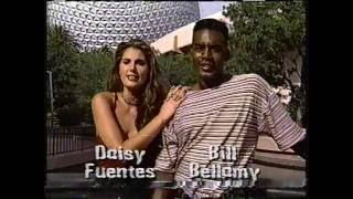 Daisy Fuentes & Bill Bellamy at Disney World