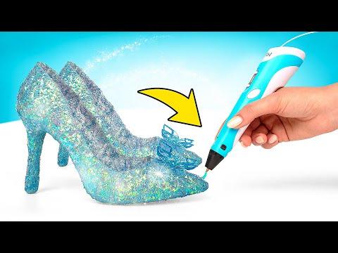 Самодельные Хрустальные Туфельки с Помощью 3D-Ручки