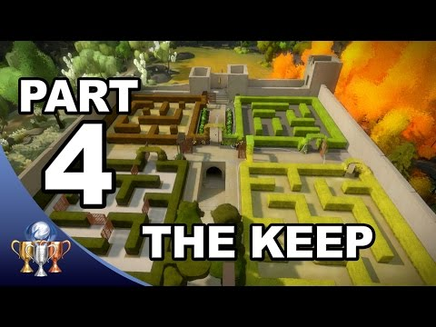 The Witness Walkthrough #4 -  Keep Hedge Maze Puzzle Solutions (Activating  Keep Laser)