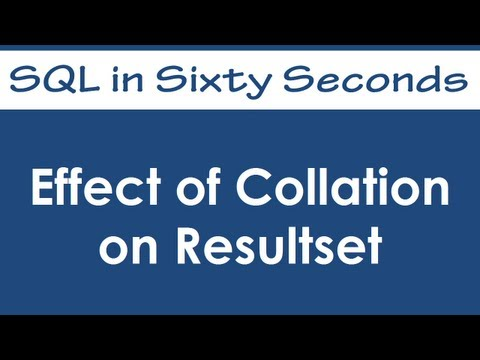 SQL SERVER - Effect of Collation on Resultset - SQL in Sixty Seconds #026 - Video hqdefault
