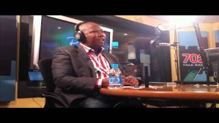 ANC Youth League President Julius Malema on 02 August told Redi Tlhabi at the 702 studios that he likes former Sowetan columnist Eric Miyeni's courage and said the country needs more people like him.