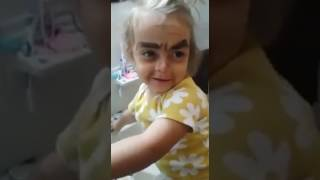 Little Girl Gets Funny Makeup Done