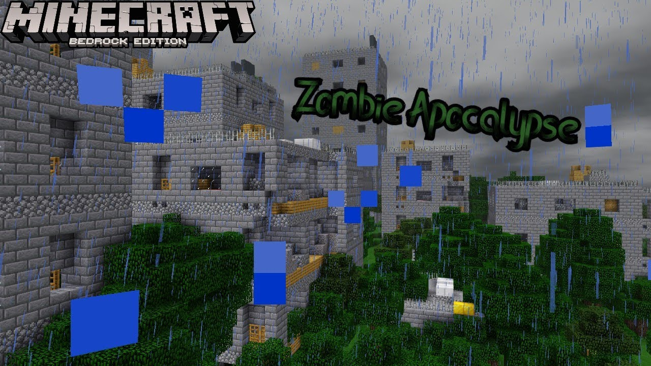 Minecraft Bedrock Zombie Apocalypse - YouTube