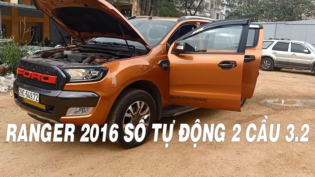 Xe bán tải cũ Ford Ranger 2016 màu cam 3.2 số tự động 2 cầu giá rẻ