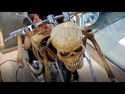 Harley Davidson Motorcycle custom with skeleton
