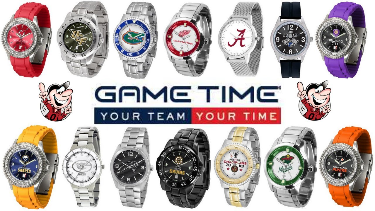 Game Time Sports Team Branded Watches