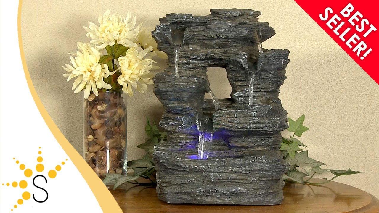 Five Stream Rock Cavern Tabletop Fountain