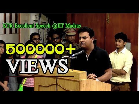 Minister KTR excellent Speech at IIT Madras