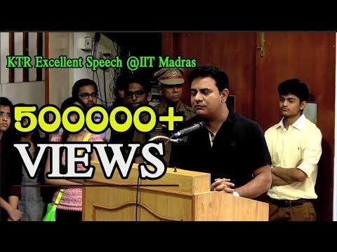 Minister KTR excellent Speech at IIT Madras