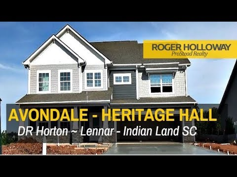 New Homes in Indian Land SC - Avondale & Heritage Hall