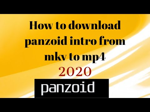 How to download panzoid intro from mkv to mp4 2020! And Voice Reveal!!