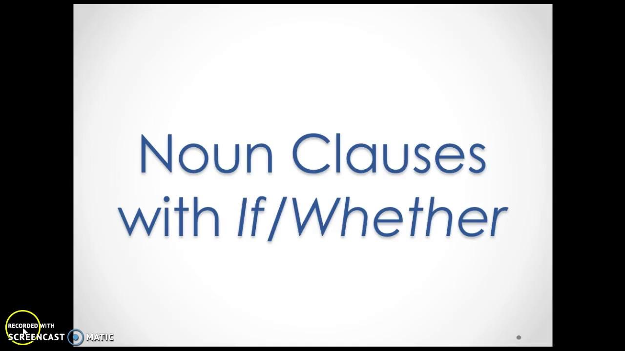 nouns clauses