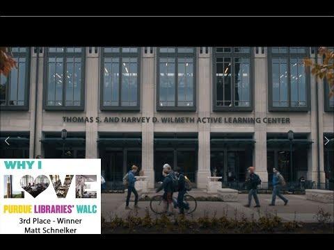 Why I Love Purdue Libraries' WALC: Matt Schnelker (3rd Place - Tie)