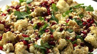 Roasted Cauliflower With Tahini Yogurt •Tasty