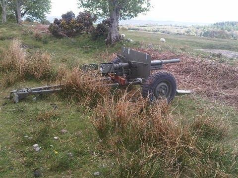 M3 Ant-Tank Gun replica setup and test...
