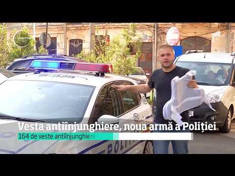 De astăzi, Poliţia Română are o nouă armă. Vesta antiînjunghiere a ajuns şi în România
