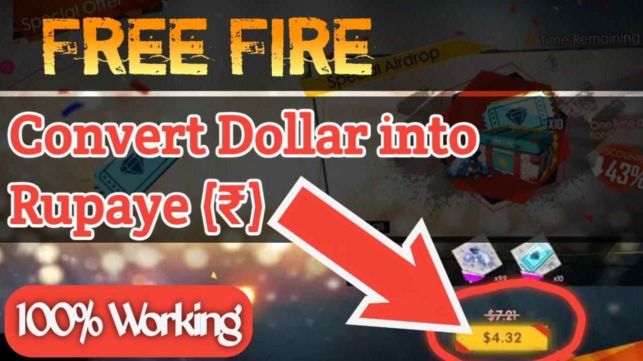 How To Convert Free Fire Airdrop Dollar
