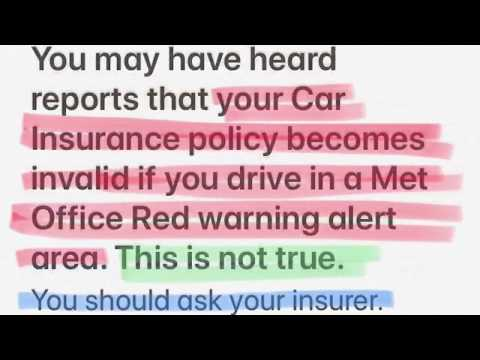 How Car insurance won't be invalidated in the snow
