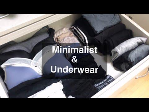 Eng)미니멀라이프 실천/ 초보 미니멀리스트 속옷 정리 하기 / Minimalife Underwear